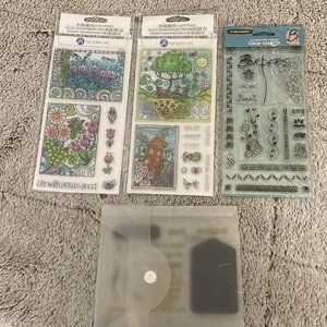 Lot of clear stamps *crafting *scrapbooking